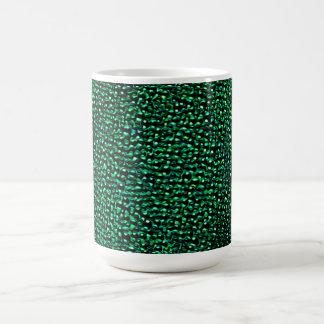 色彩の鮮やかな緑の宝石 コーヒーマグカップ