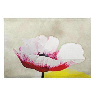 色彩の鮮やかな花のアネモネ ランチョンマット