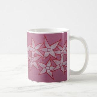 色彩の鮮やかな花のマグ コーヒーマグカップ