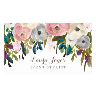 色彩の鮮やかな花の花屋のスタイリストの名刺 スタンダード名刺