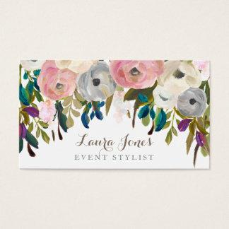 色彩の鮮やかな花の花屋のスタイリストの名刺 名刺