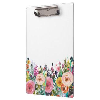 色彩の鮮やかな花の花屋のスタイリストビジネスクリップボード