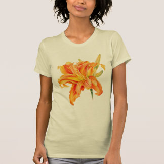 色彩の鮮やかな花の芸術のワスレグサのHemerocallisのTシャツ Tシャツ