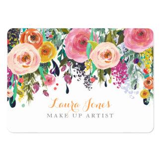 色彩の鮮やかな花柄は芸術家のアポイントメントカードを構成します チャビ―名刺