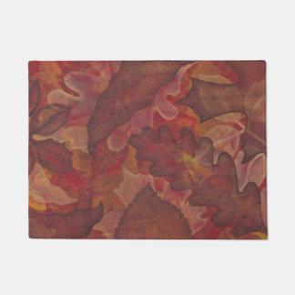 色彩の鮮やかな葉の秋の玄関マット ドアマット