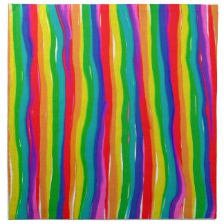 色彩の鮮やかな虹 ナプキンクロス
