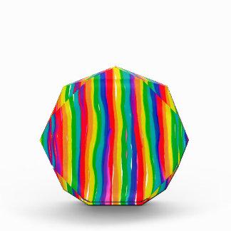 色彩の鮮やかな虹 表彰盾