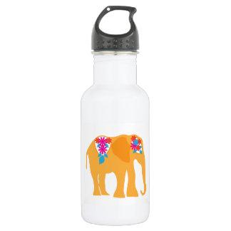 色彩の鮮やかな象 ウォーターボトル