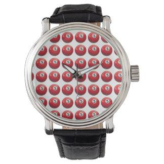 色彩の鮮やかな3玉突の玉パターン 腕時計