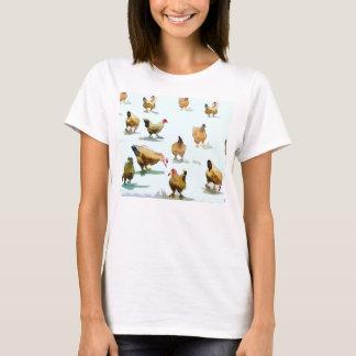 色彩の鮮やかな「鶏」のTシャツ Tシャツ