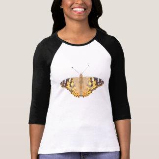色彩の鮮やかなButterfly女性~のTシャツ Tシャツ