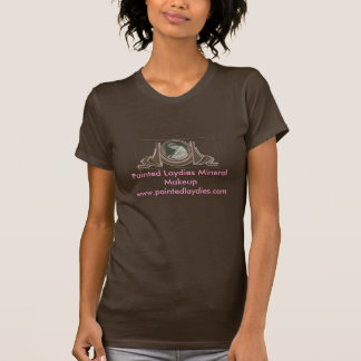 色彩の鮮やかなLaydiesのミネラル化粧のロゴ。 Tシャツ