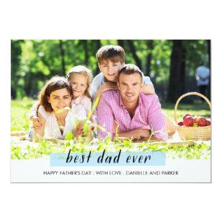 色彩の鮮やかなwashiテープ父の日カード 12.7 x 17.8 インビテーションカード