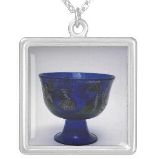 色彩の鮮やかのBarovier Cup',の結婚のコップ シルバープレートネックレス