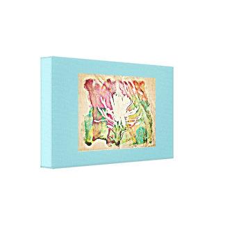 色彩壁のキャンバスの白いサボテンの開花 キャンバスプリント