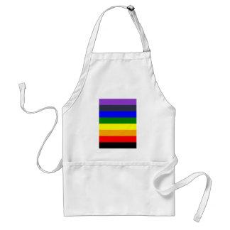 色空間の虹を黒くする白 スタンダードエプロン
