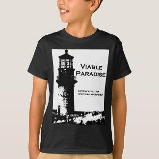 色-実行可能な楽園の灯台--を選んで下さい Tシャツ