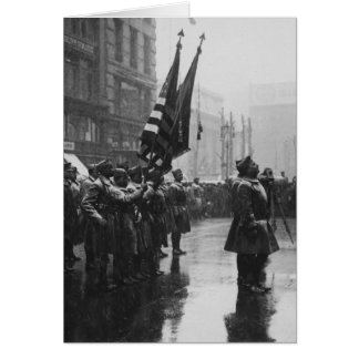 """色- 1919年--を戻している""""バッファロー""""の兵士 カード"""
