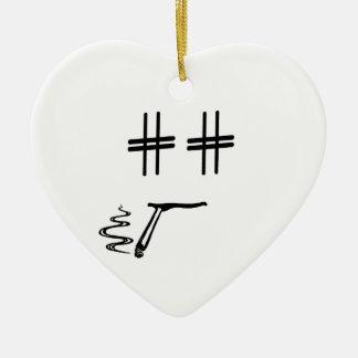 色# Hashtagの男のスマイリーフェイスを選んで下さい セラミックオーナメント