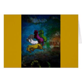 色IIの~のカード/招待状の馬 カード