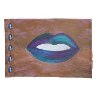 艶かしいベッド|の唇のキスXOXOの口紅のガーリーな花型女性歌手 枕カバー