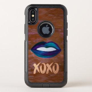 艶かしい技術|の唇のキスXOXOの口紅の花型女性歌手の魅力 オッターボックスコミューターiPhone X ケース