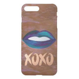艶かしい技術|の唇のキスXOXOの口紅の魅力的な10代の iPhone 8 PLUS/7 PLUS ケース