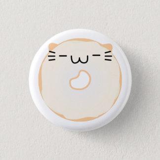 艶をかけられた猫ドーナツボタン 3.2CM 丸型バッジ