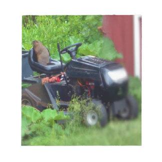 芝刈機のGroundhog ノートパッド