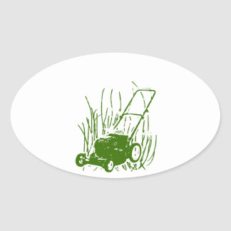 芝刈機 楕円形シール