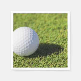 芝生のコースのゴルフ・ボールはテンプレートを遊ばします スタンダードカクテルナプキン