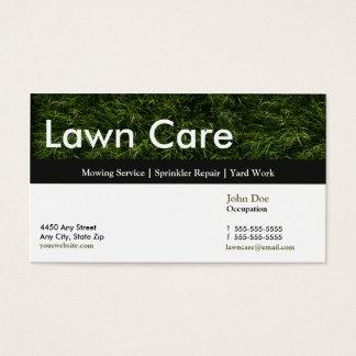 芝生のサービス業カードアポイントメントカード 名刺