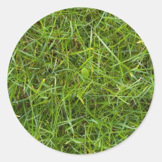 芝生の好意のステッカー ラウンドシール