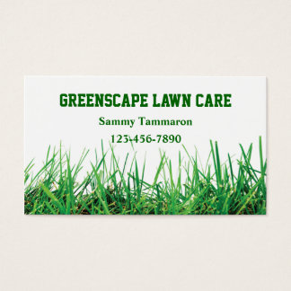 芝生の心配および造園 名刺