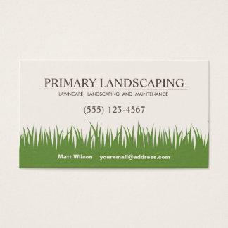 芝生の心配の造園は草を整備します 名刺