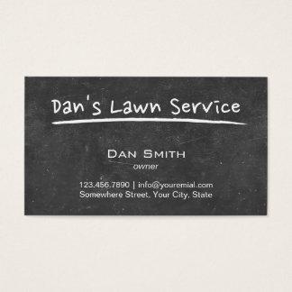 芝生の心配の黒板の原稿 名刺