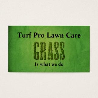 芝生の心配及び庭師 名刺