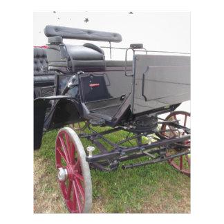 芝生の旧式の馬キャリッジ レターヘッド