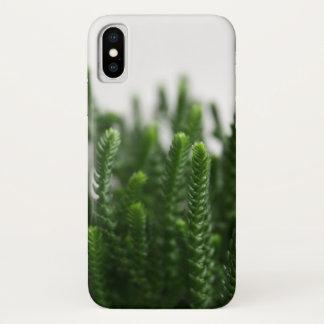 芝生の水気が多い植物の写真のカスタムの場合 iPhone X ケース