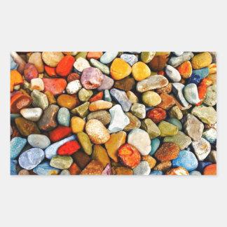 芝生の石 長方形シール