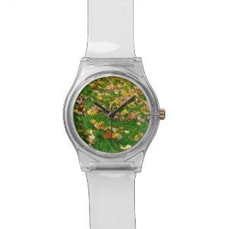 芝生の紅葉 腕時計