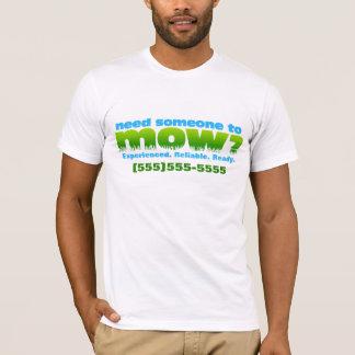 芝生の美化を刈って下さい。広告宣伝のワイシャツ。 前部だけ Tシャツ