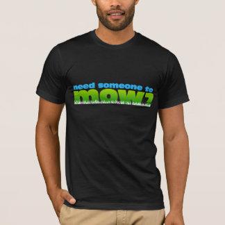 芝生の芝生の心配の庭師の広告宣伝shirt/2の側面を刈って下さい tシャツ