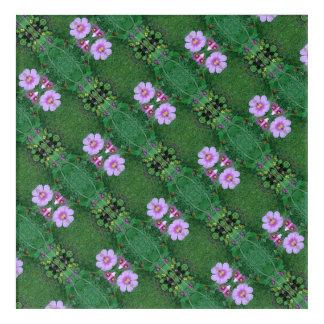 芝生の花は穀物をフラクタルの対角線まだらにします アクリルウォールアート