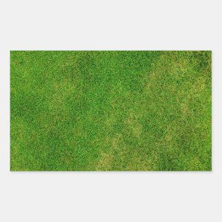 芝生の質 長方形シール