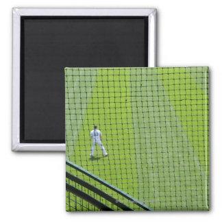 芝生の野球選手が付いている網 マグネット