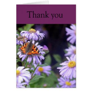 花ありがとうカードの残りの蝶 グリーティングカード