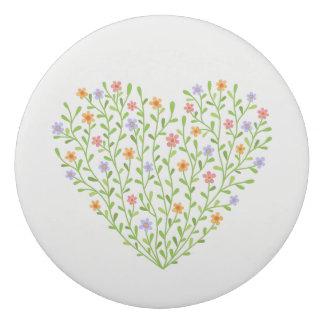 花いっぱいのハート 消しゴム