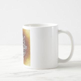 花いっぱいのブラウン コーヒーマグカップ