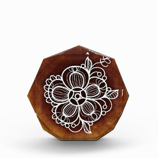 花いっぱいのブラウン 表彰盾